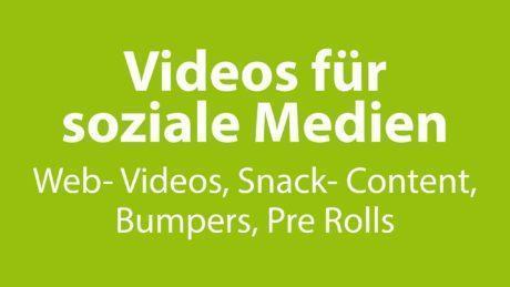 Videos für soziale Medien